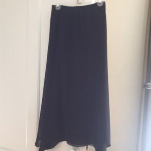 Maxi scalloped bottom black skirt. EUC.